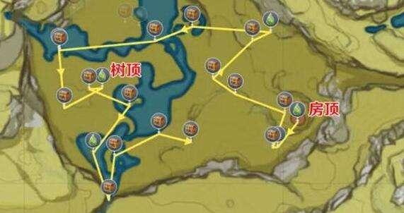 原神盤岩之路收集路线如何规划